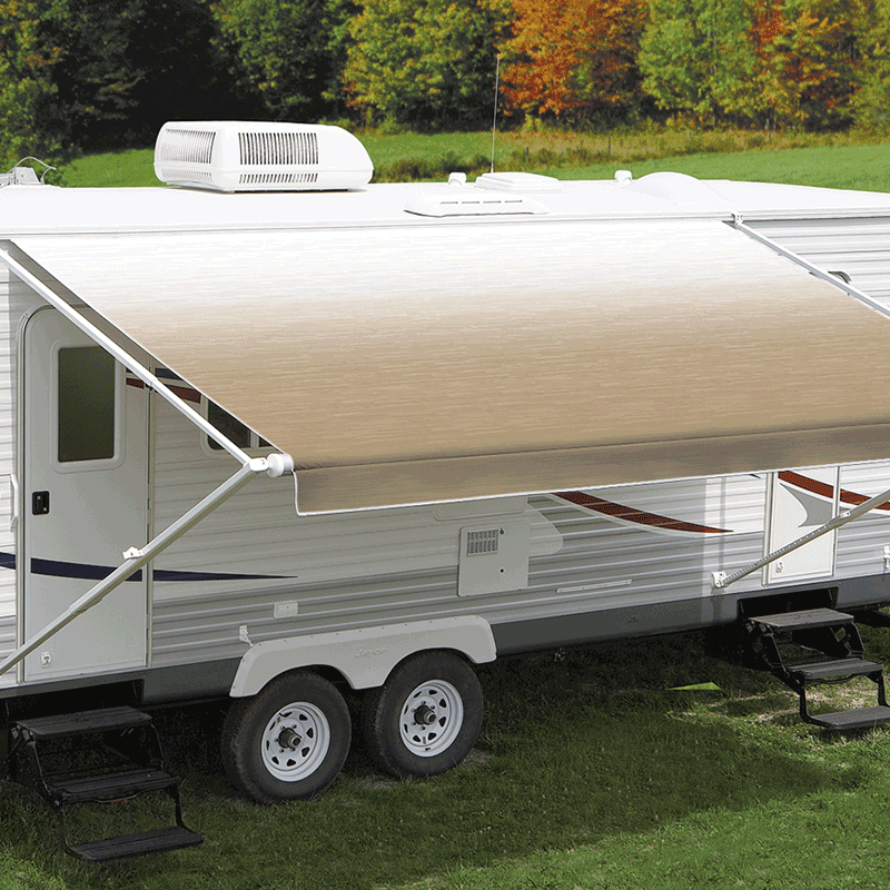 18ft Camel Shale Fade Roll Out Awning (No Arms)