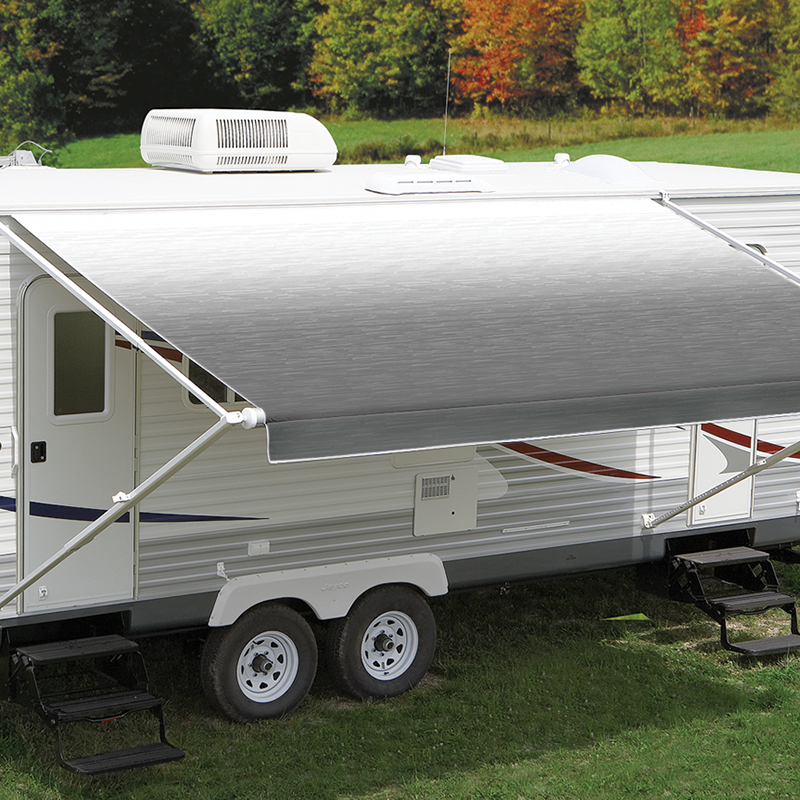 Carefree LED Silver Shale Fade Roll Out Awning (No Arms ...