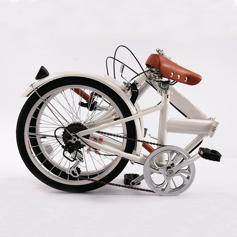 RV Coaster Folding Bike - White