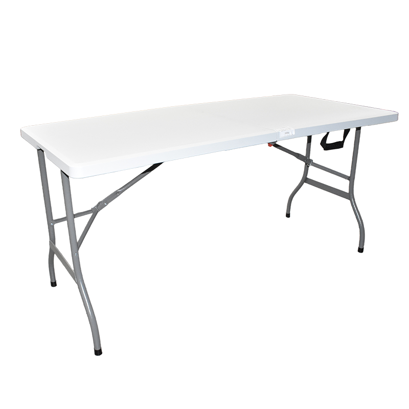 5' Bi-Folding Table with One Touch Lock