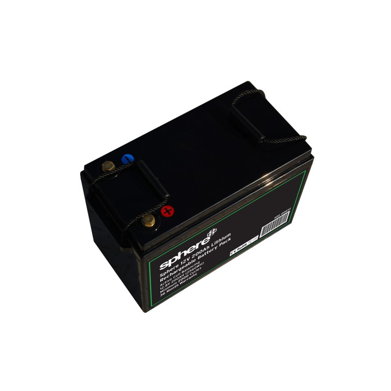 Sphere 12V 200AH Lithium Rechargeable Battery.