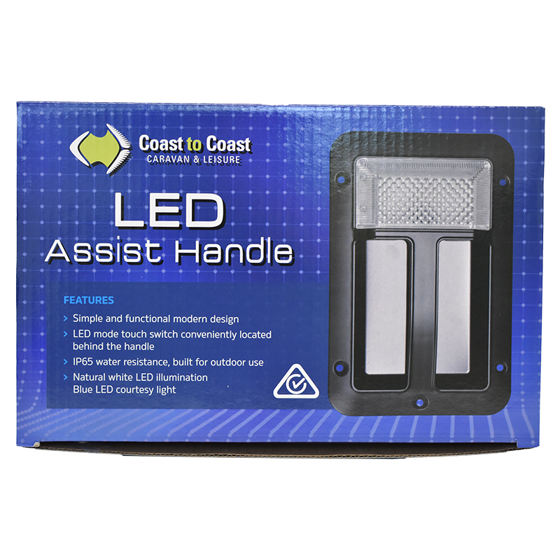 Led Assist Handle Black Coast To Coast Rv