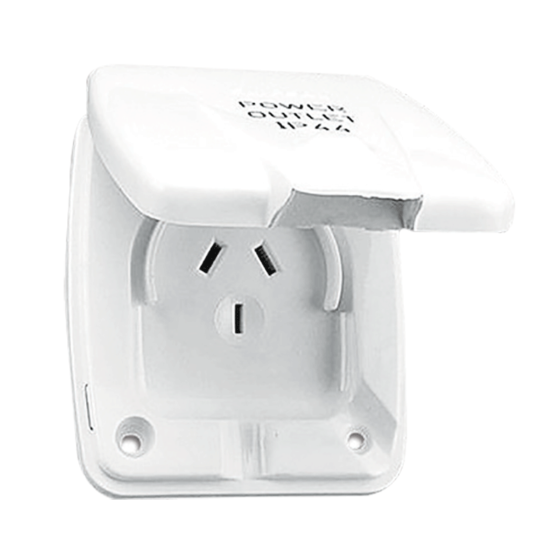 Clipsal White External 10AMP Power Outlet (3 PIN)