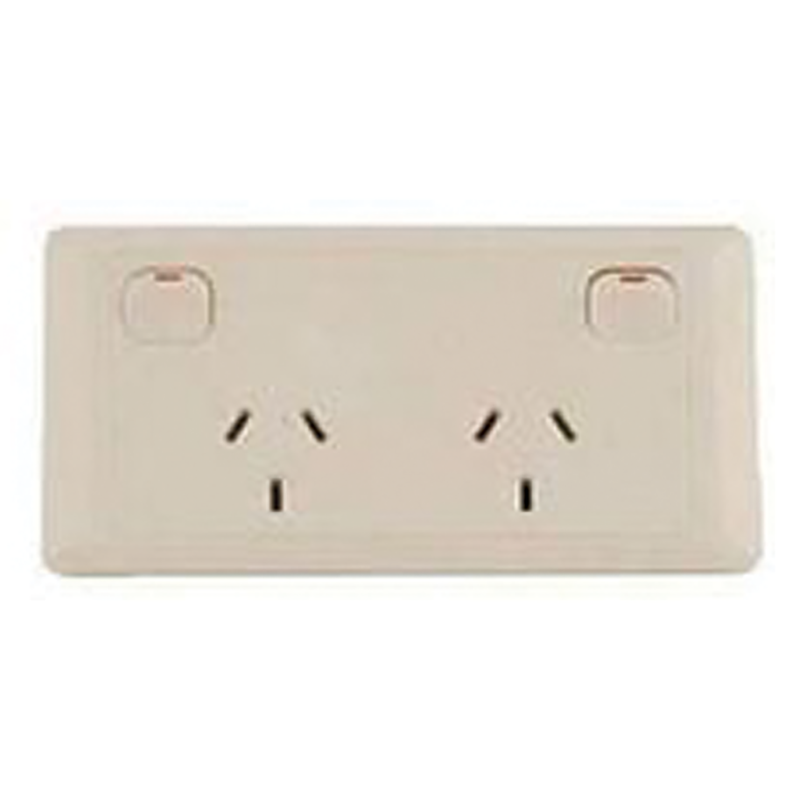 CMS Double Power Outlet - Beige