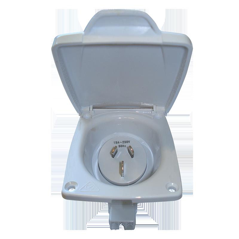 CMS 15AMP Plug Power Inlet White