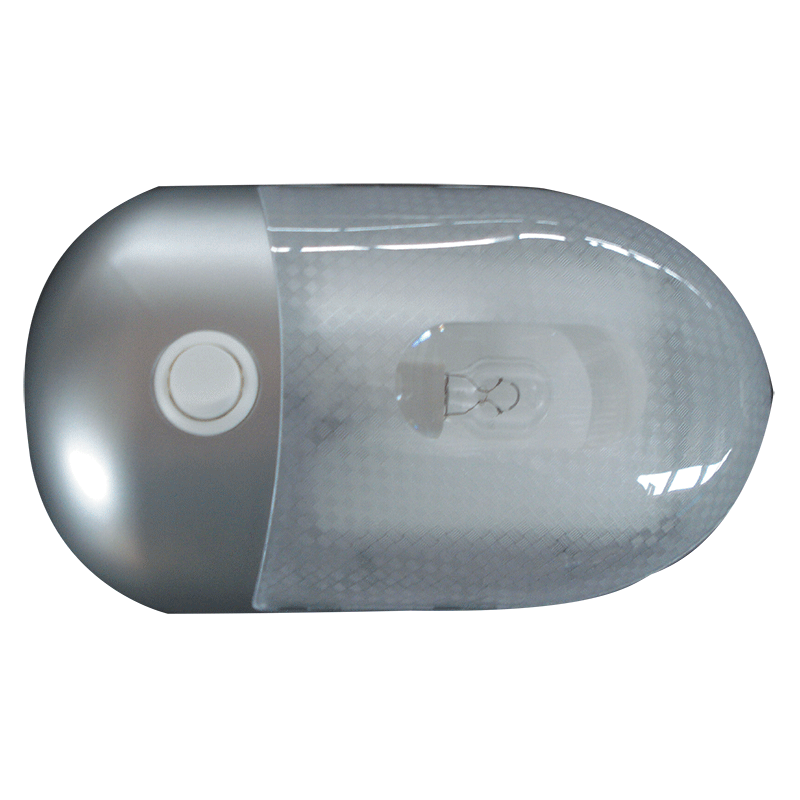 Silver Interior Dome Light 12V