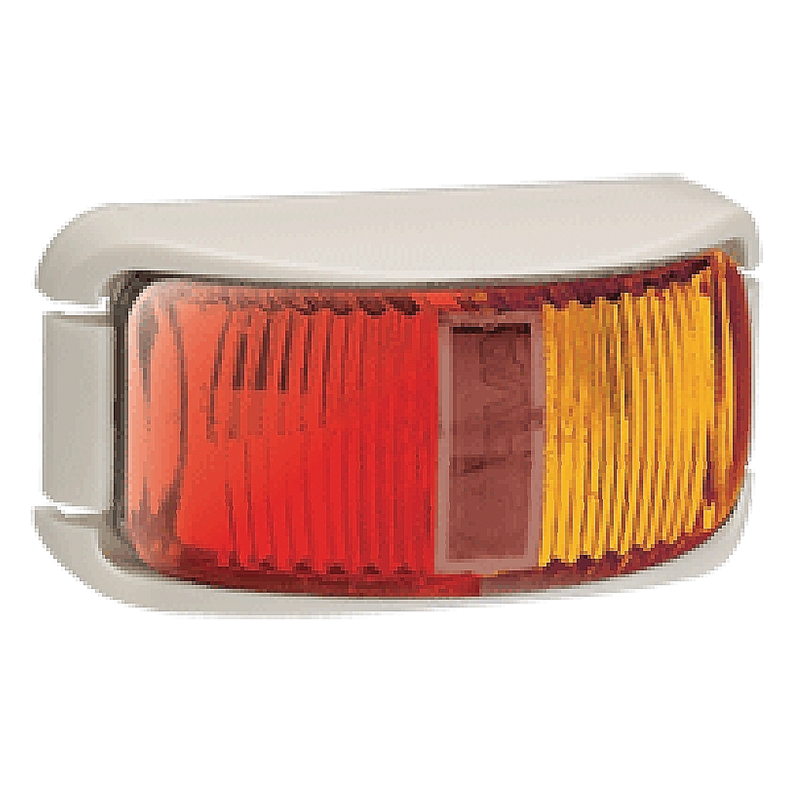 Narva L.E.D Side Lamp Red/Amber - White Base