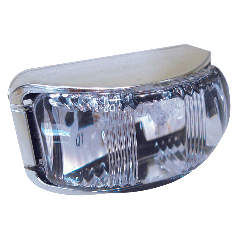 Narva L.E.D Front Lamp Amber - Chrome Base.