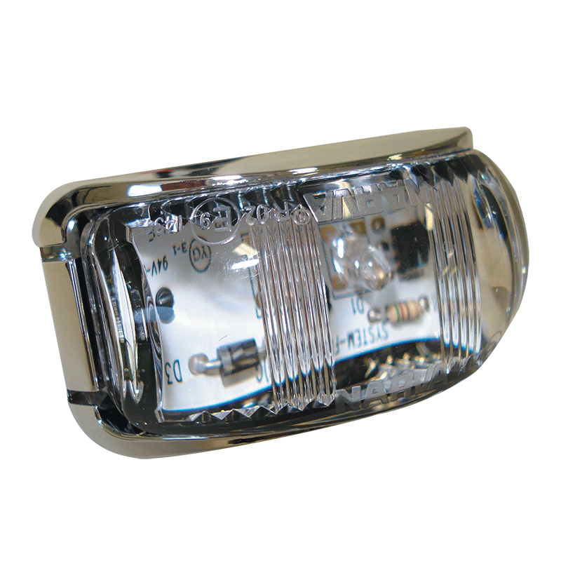 Narva L.E.D. Rear Lamp Red With Chrome Base