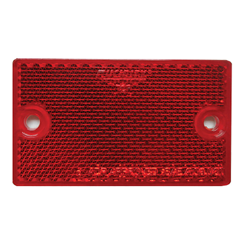Coast Rectangular Screw Mount Reflector (Red)