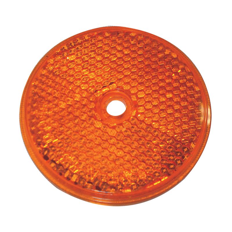 Round Reflex Reflector - Amber