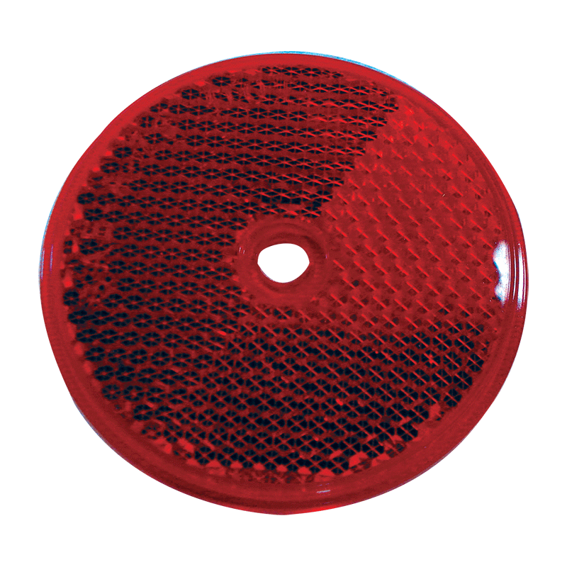 Round Reflex Reflector Red Coast To Coast Rv