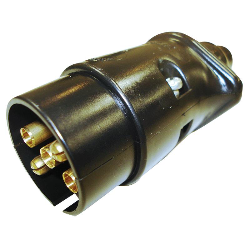 Narva Trailer Plug 5 Pin Large Round Plastic Blister Pack