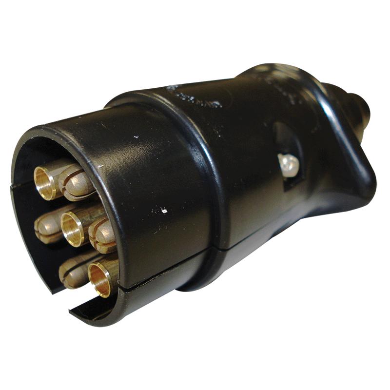 Narva Trailer Plug 7 Pin Large Round Plastic Blister Pack