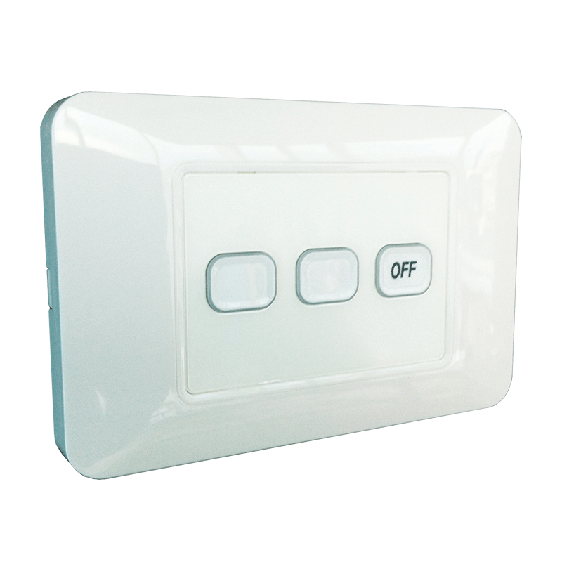 3-Gang Wireless Switch with Master Off