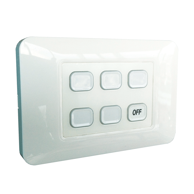 6-Gang Wireless Switch with Master Off