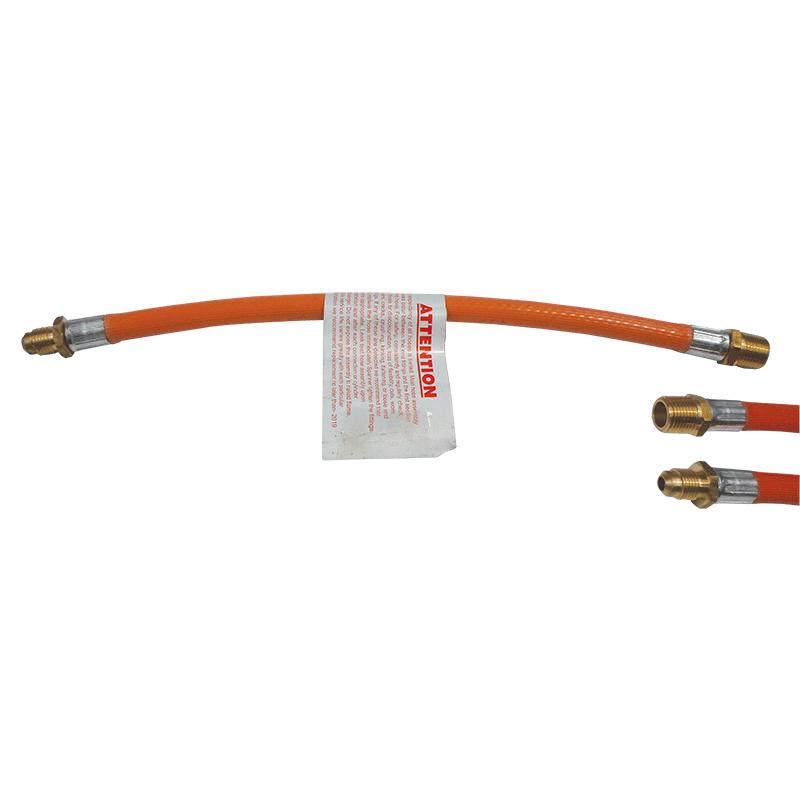 "Gas hose - 6mm PVC, 5/16"" SAE MF x 3/8"" BSP M, 300mm"
