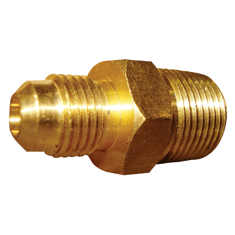 SAE 45 Degree Flare Brass Fitting Male Union 5/16 Tube 3/8 BSPT