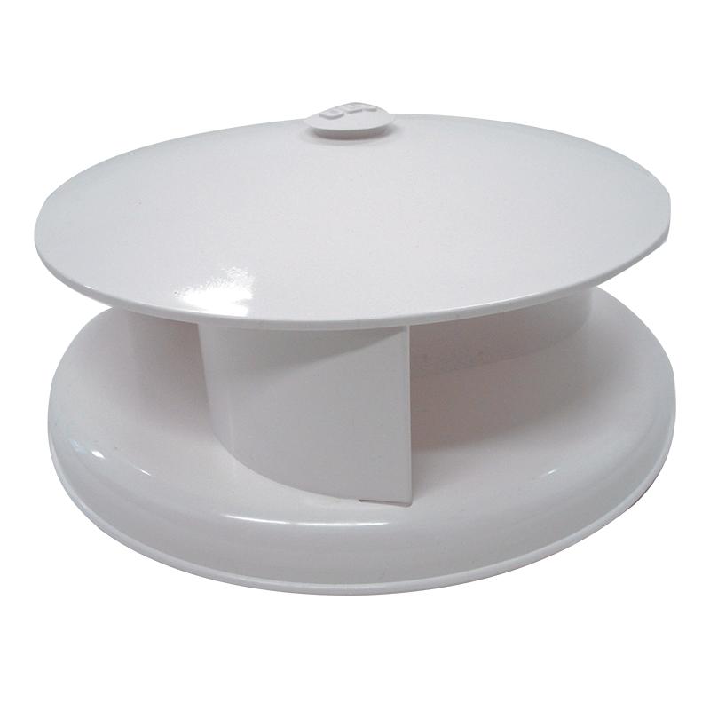 Rotary Vent Plastic White