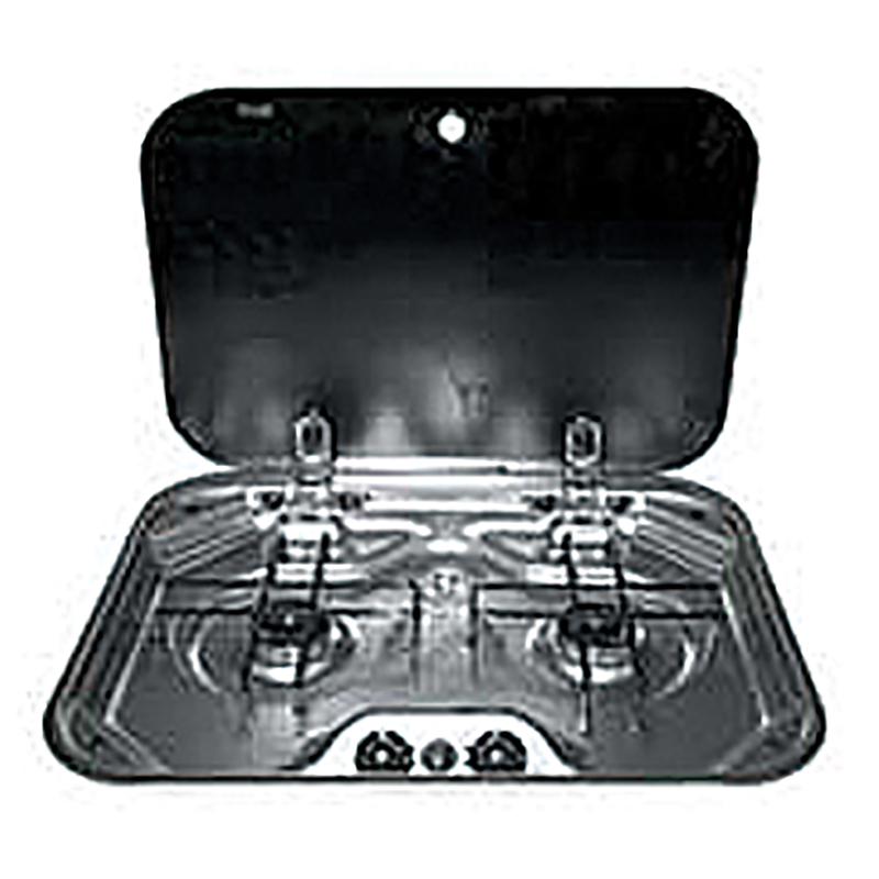 Smev 2 Burner Stainless Steel Drop In Cook Top With Glass Lid