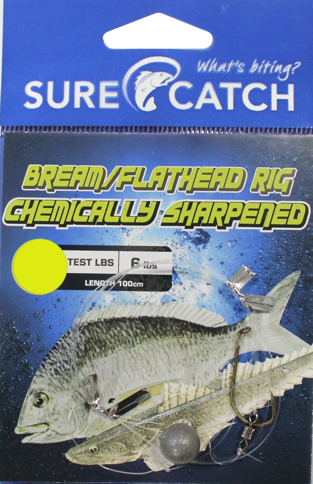 Sure Catch Bream & Flathead Rig Chem/Sharp - Size 4