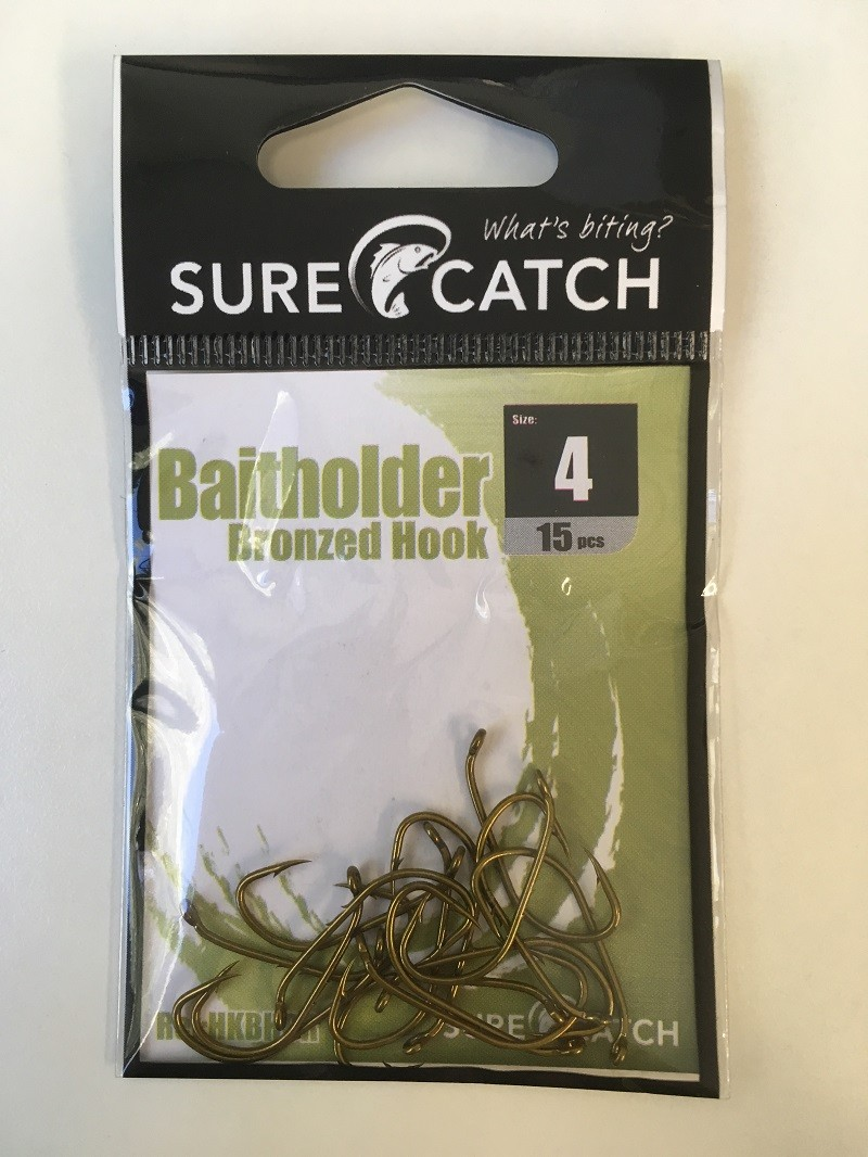 Sure Catch Bronze Baitholder Hook (12 per Pack) - Size 4