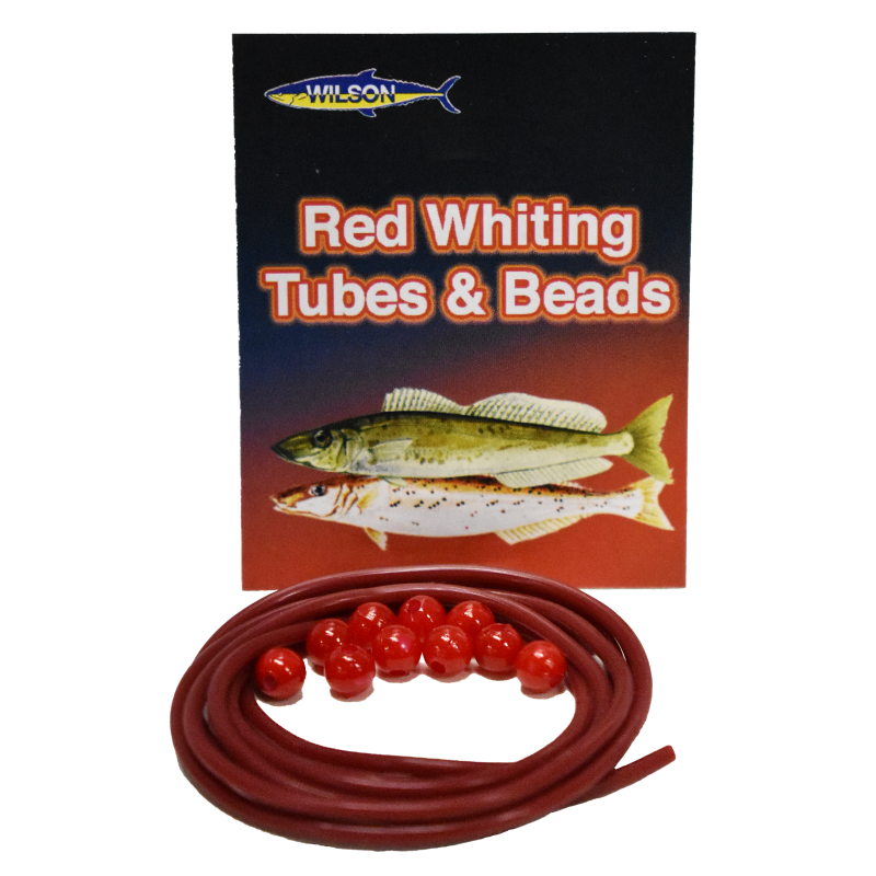 Wilson Whiting Red Plastic Tube & Beads Pack