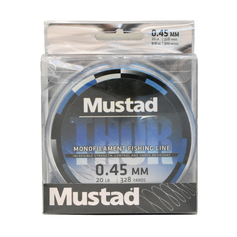 Mustad Premium THOR Monofilament Fishing Line 300m Sea Blue -20lb
