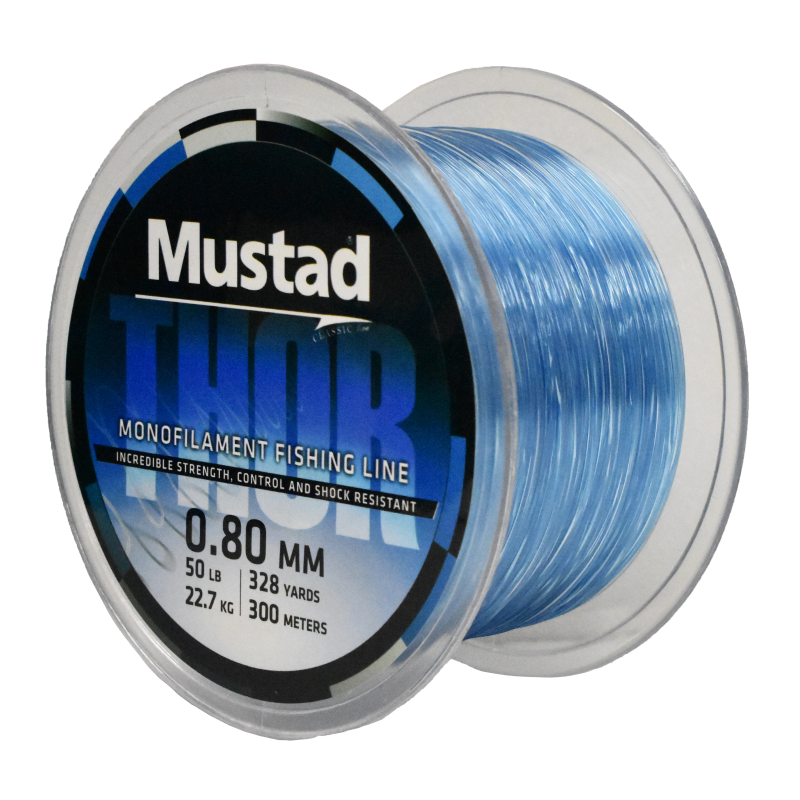 Mustad Premium THOR Monofilament Fishing Line 300m Sea Blue - 50lb