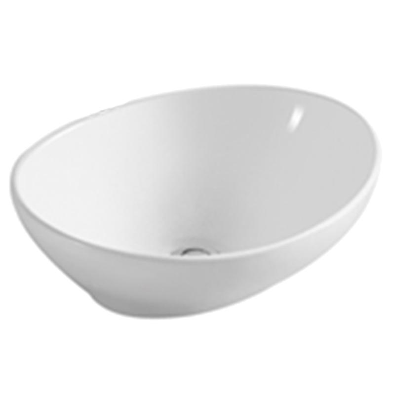 White Oval Ceramic Bathroom Basin