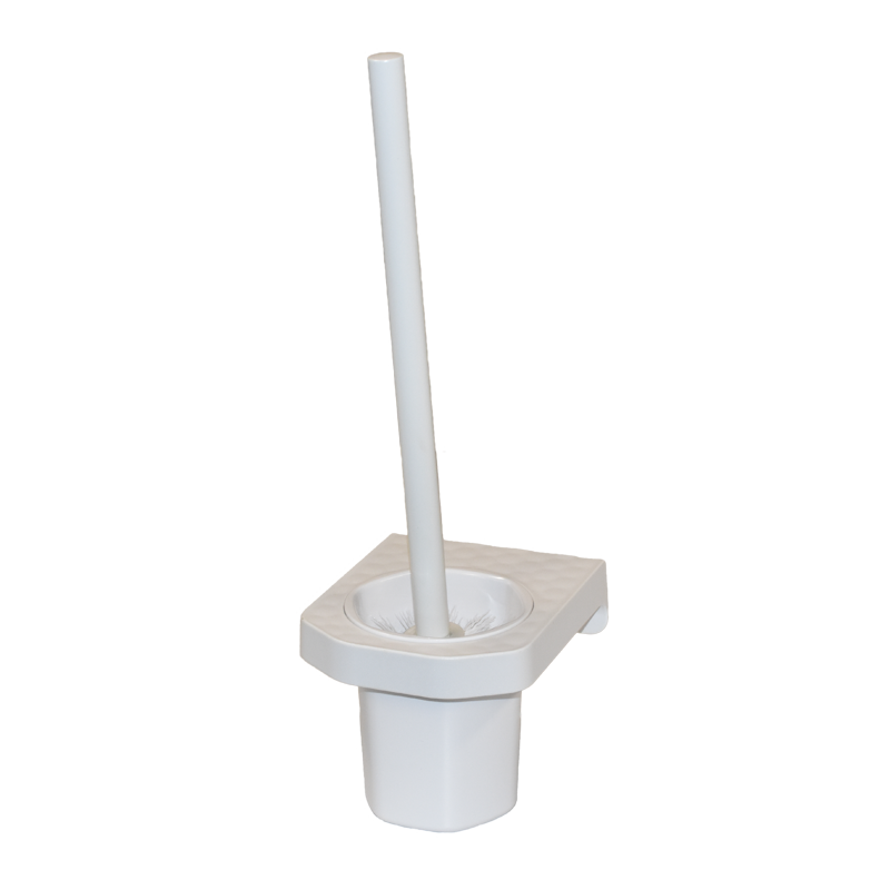 COAST Bathroom Toilet Brush & Holder WHITE - 112x133x370mm (LxDxH)