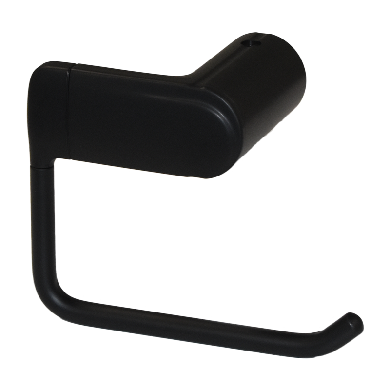COAST Bathroom Toilet Roll Holder BLACK - 148x82x110mm (LxDxH)