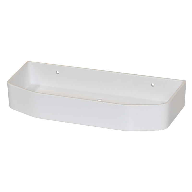 COAST Bathroom SML Commodity Basket WHITE - 250x112x40mm (LxDxH)