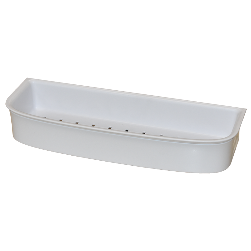 COAST Bathroom LGE Commodity Basket WHITE - 350x127x56mm (LxDxH)