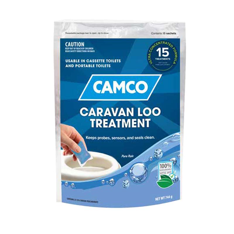 Camco Caravan Loo Treatment Pure Rain Scent - 15 Drop-Ins