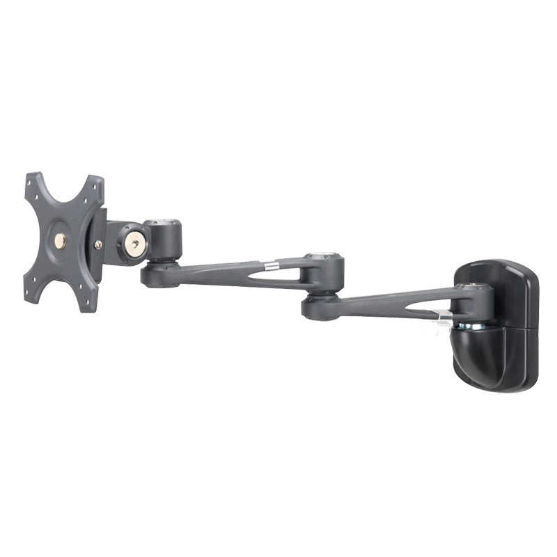Sphere Double Arm Wall Mount Monitor Bracket (Black)