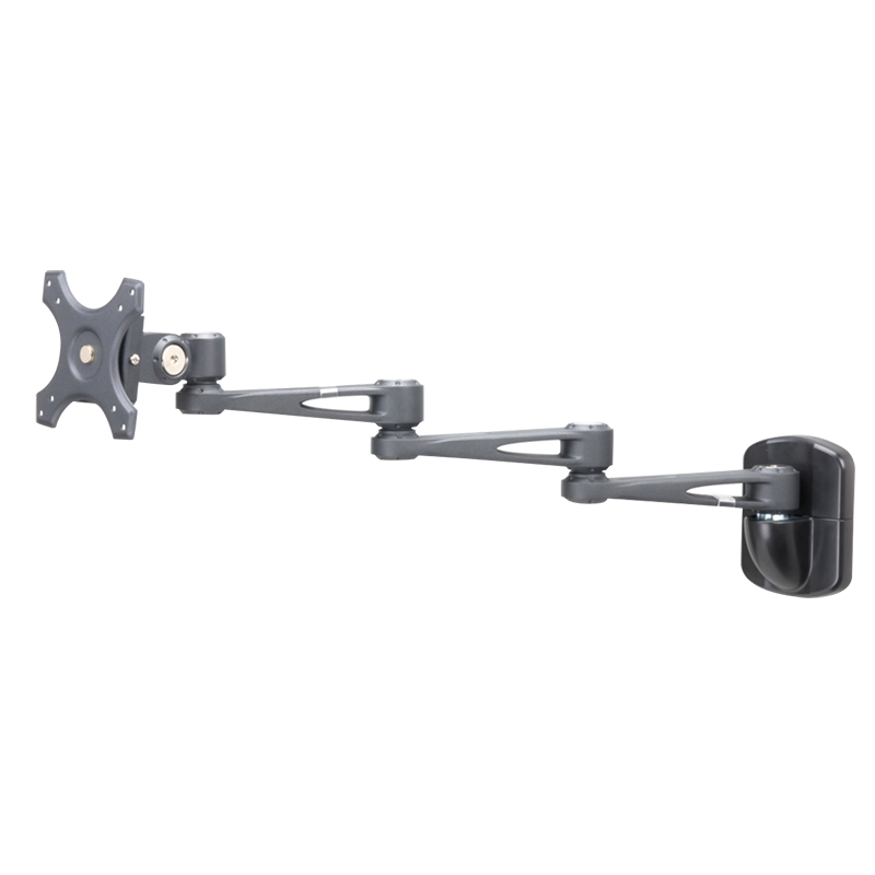 Sphere Triple Arm Wall Mount Monitor Bracket Black