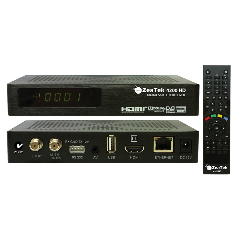 Zeatek 4300HD MPEG 2/4 Satellite Receiver (with sky reader)