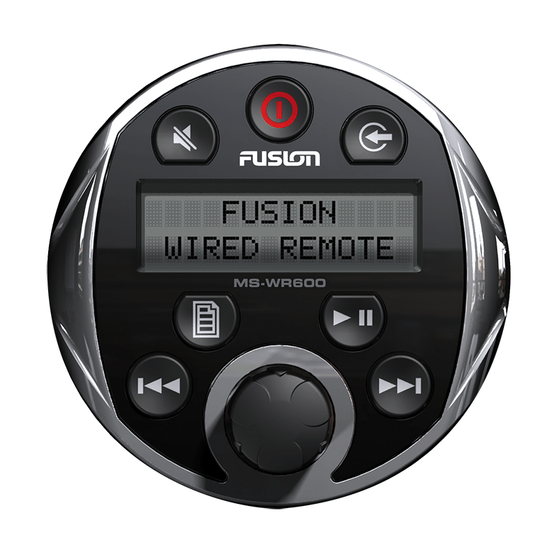 Fusion 200 & 600 Series Marine Wired Remote (MS-WR600C)