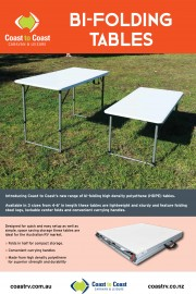 Bi-Folding Tables