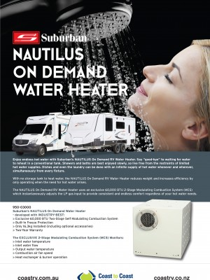 Suburban Nautilus On Demand Hot Water Heater