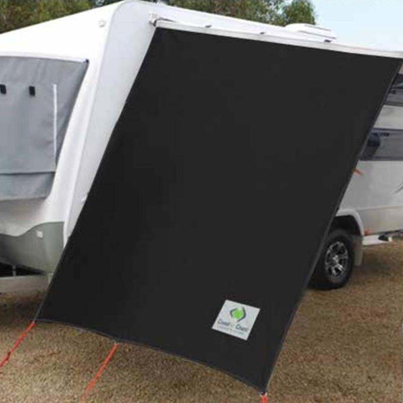 Black Side Sunscreen for Caravans