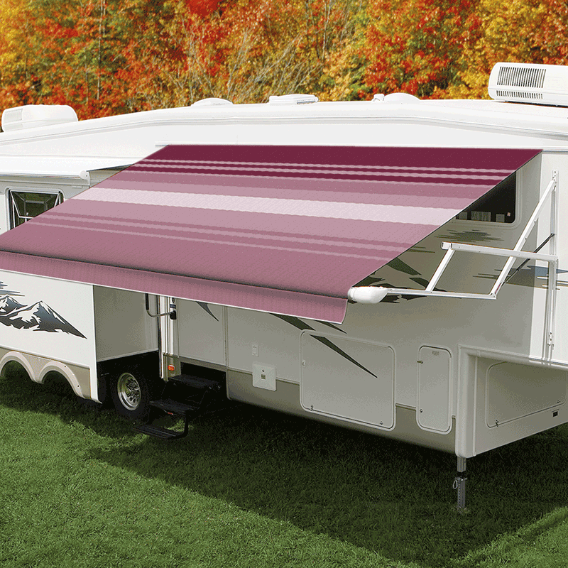 15ft Bordeaux Dune Roll Out Awning (No Arms)