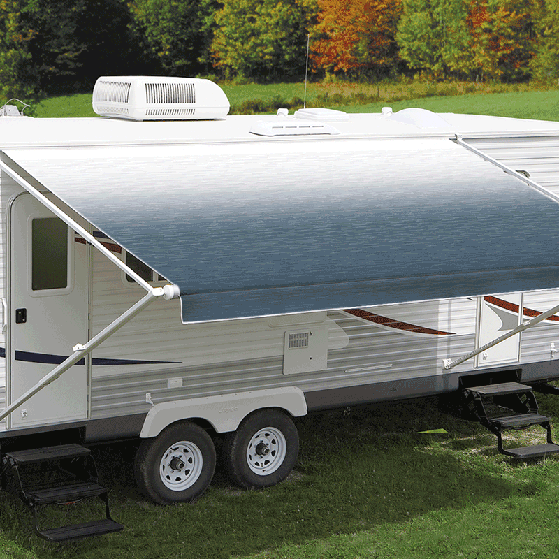 14ft Blue Shale Fade Roll Out Awning (No Arms)