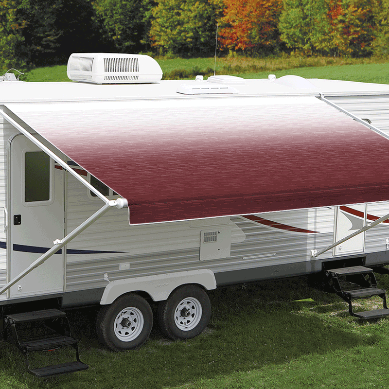 11ft Burgundy Shale Fade Roll Out Awning (No Arms)