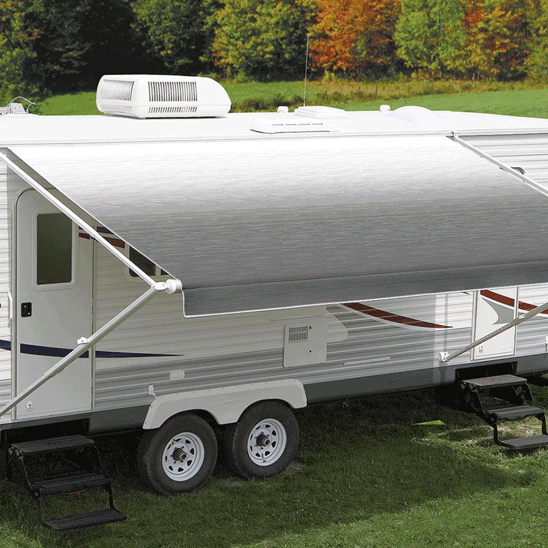 Carefree 17' Eclipse 12V Silver Shale Fade Awning (No Arms)