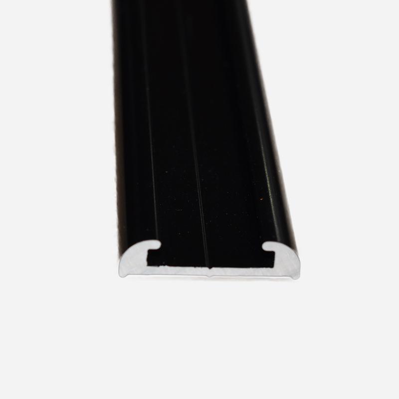 TRULINE FLAT ALUMINIUM BLACK Narrow 4.8 M