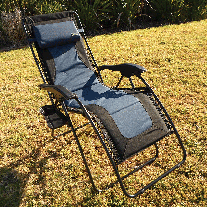 Coast Padded Blue & Black Laguna Recliner