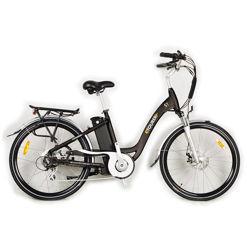 eTOURER S1 E-Bike Unisex Model - Black.