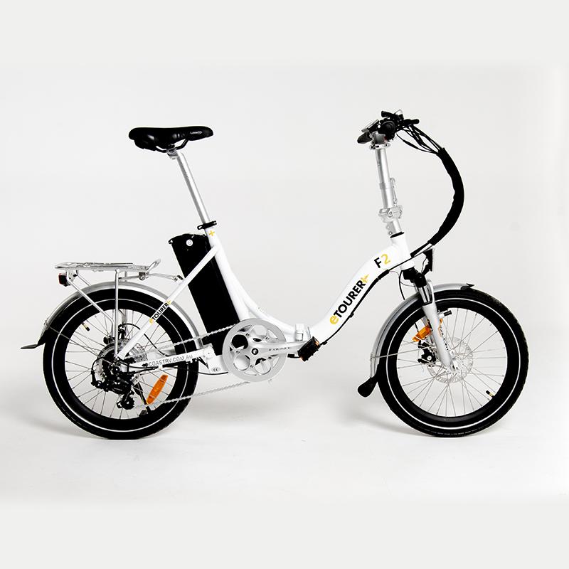 eTOURER F2 Folding E-Bike Step-Through Model - Polar White